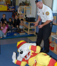 Navy fire service fire prevention program with 2nd Class Tucker M. Yates